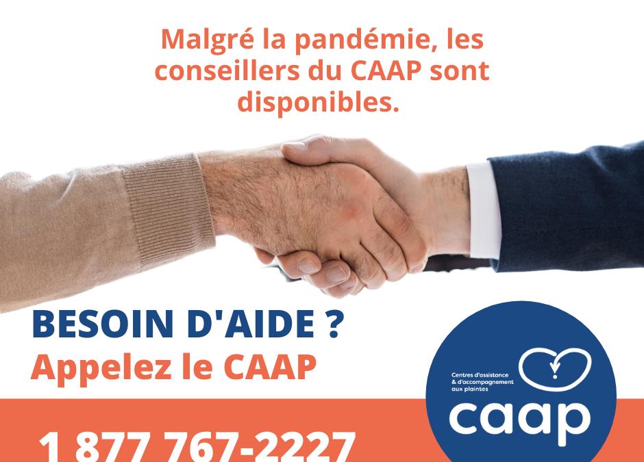 Malgré la pandémie, les conseillers du CAAP sont disponibles !